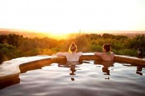Peninsula Hot Springs - Salute to the sun